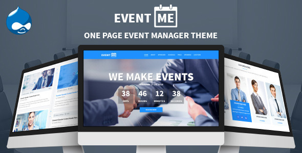 ThemeForest EventMe One Page Conference & Event Drupal Theme 8822143
