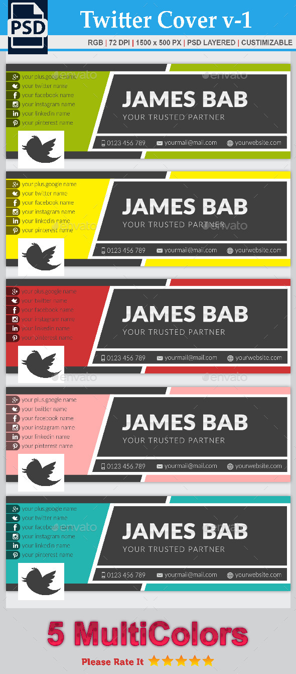 GraphicRiver Twitter Corporate Cover v-1 8822590