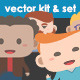 Cartoon Guy Vector Kit and Set - GraphicRiver Item for Sale