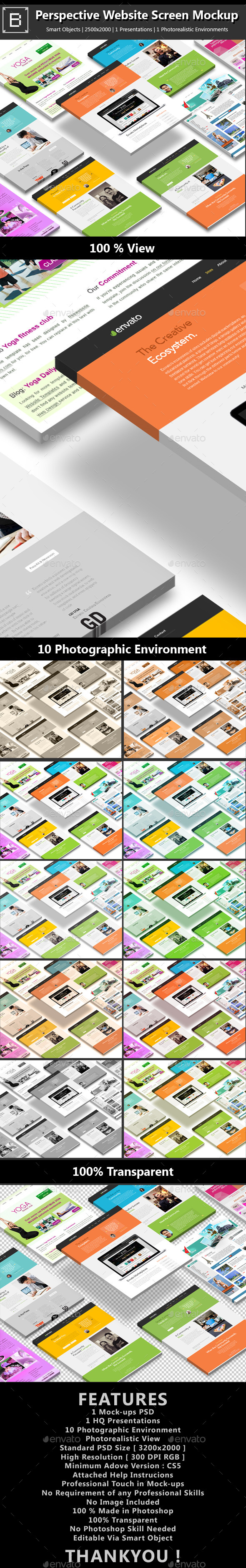 GraphicRiver Perspective Website Screen Mockup 8822963
