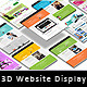 3D Perspective Website Screen Mockup - GraphicRiver Item for Sale