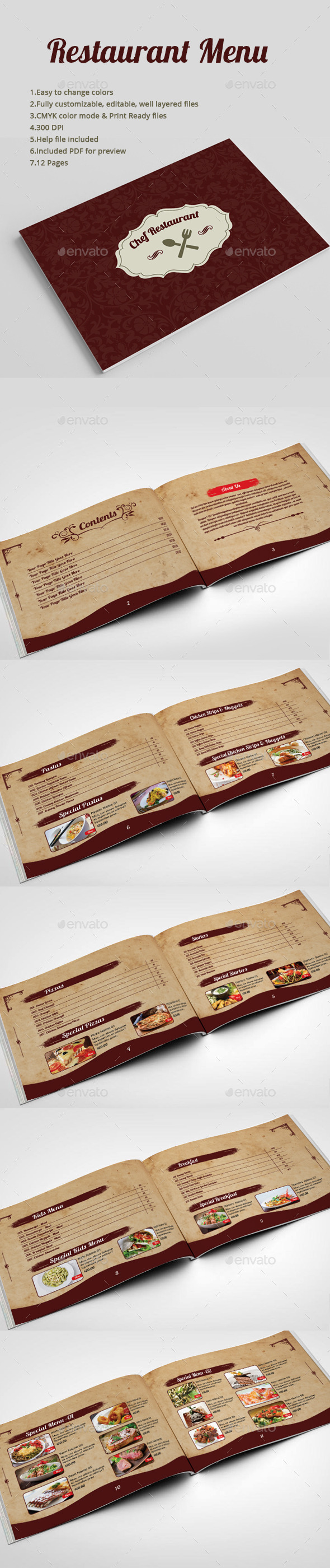 GraphicRiver Restaurant Menu 8823069