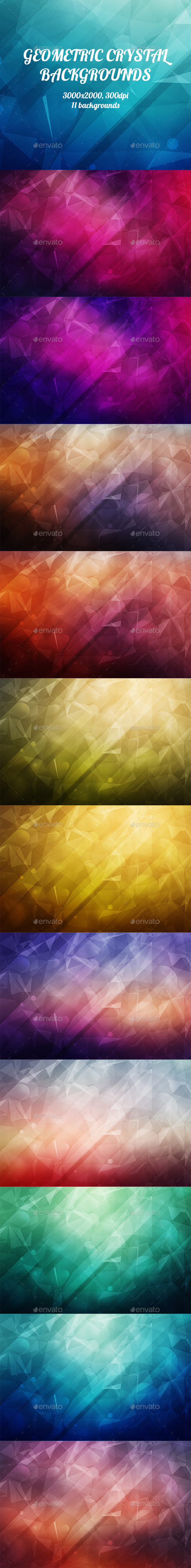 GraphicRiver Geometric Crystal Backgrounds 8823124