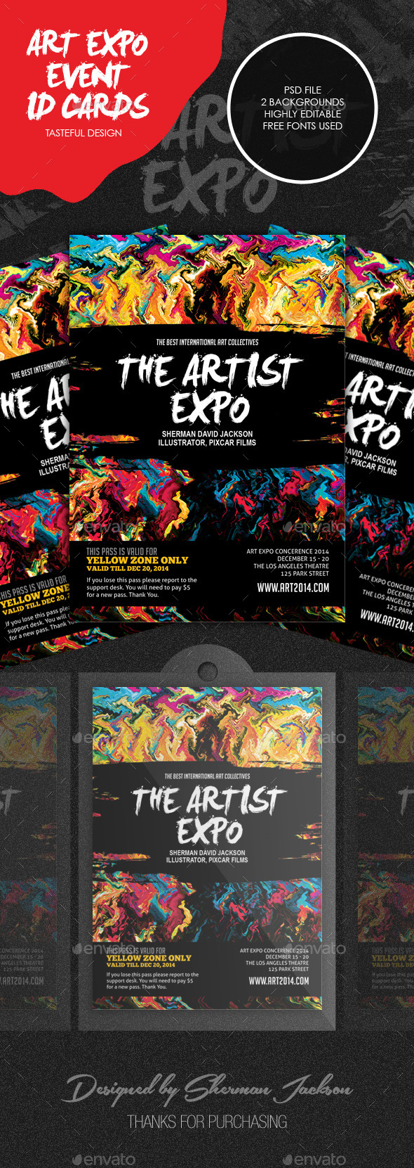 GraphicRiver Art Event Show & Expo ID Badge 8823166