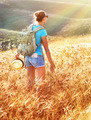 Woman in golden wheat field - PhotoDune Item for Sale