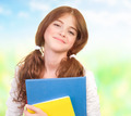 Happy schoolgirl outdoors - PhotoDune Item for Sale