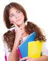 Serious thoughtful schoolgirl - PhotoDune Item for Sale