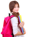 Cute schoolgirl with textbooks - PhotoDune Item for Sale
