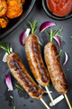 Sausages with Rosemary and Sweet Potato Fries - PhotoDune Item for Sale