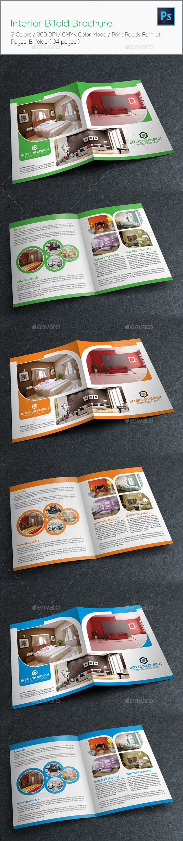 GraphicRiver Interior Bifold Brochure 8823653