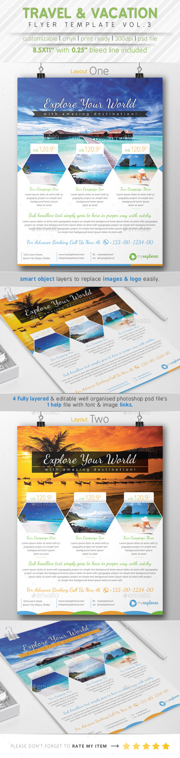 GraphicRiver Travel & Vacation Flyer Ads Vol.3 8823666