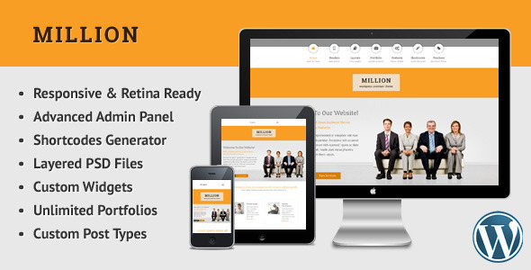 Million - Retina Responsive Multipurpose WP Theme - Creative WordPress