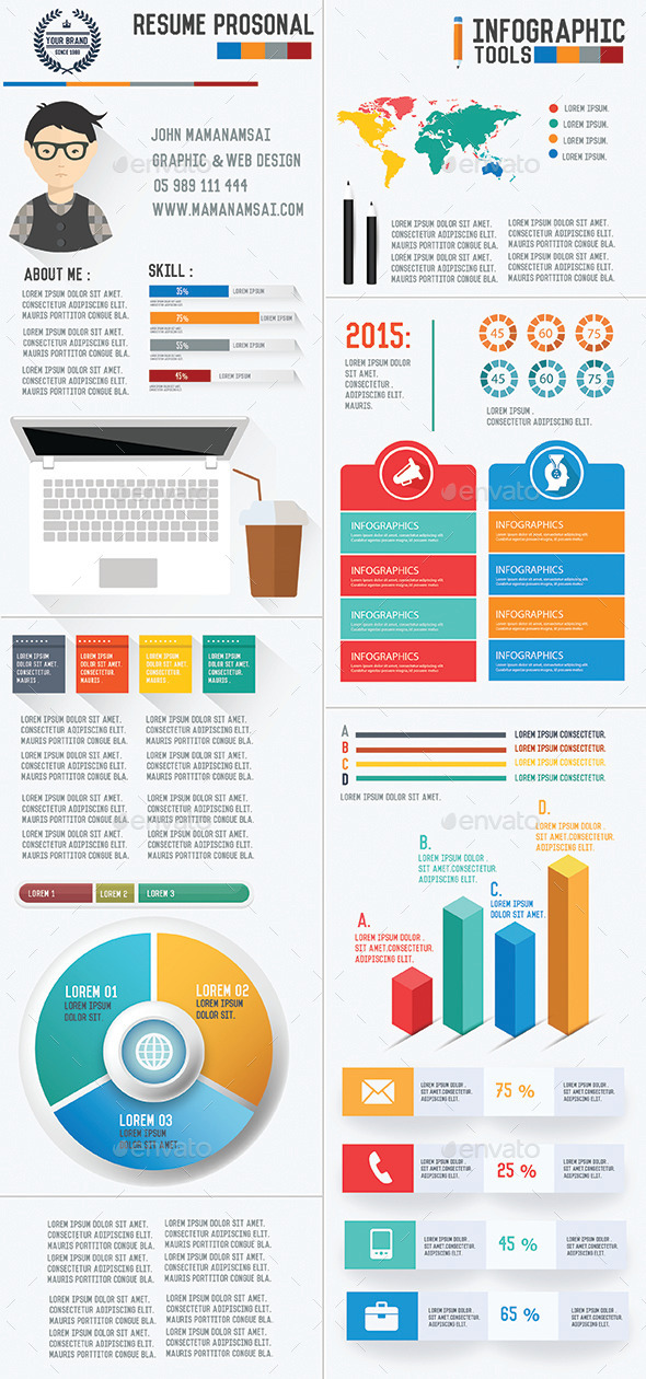 GraphicRiver Resume Infographic Design 8823880
