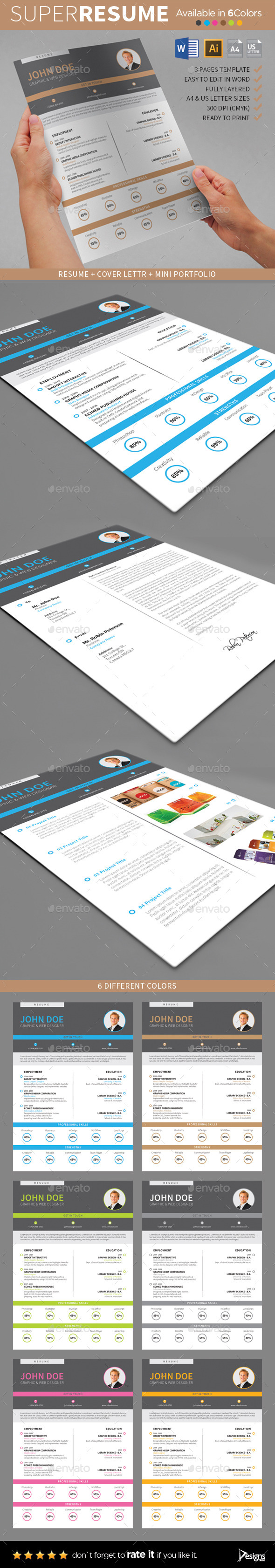 GraphicRiver The Resume 1 8823900