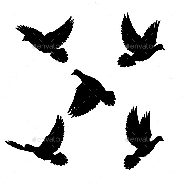 GraphicRiver Set Doves 8823921
