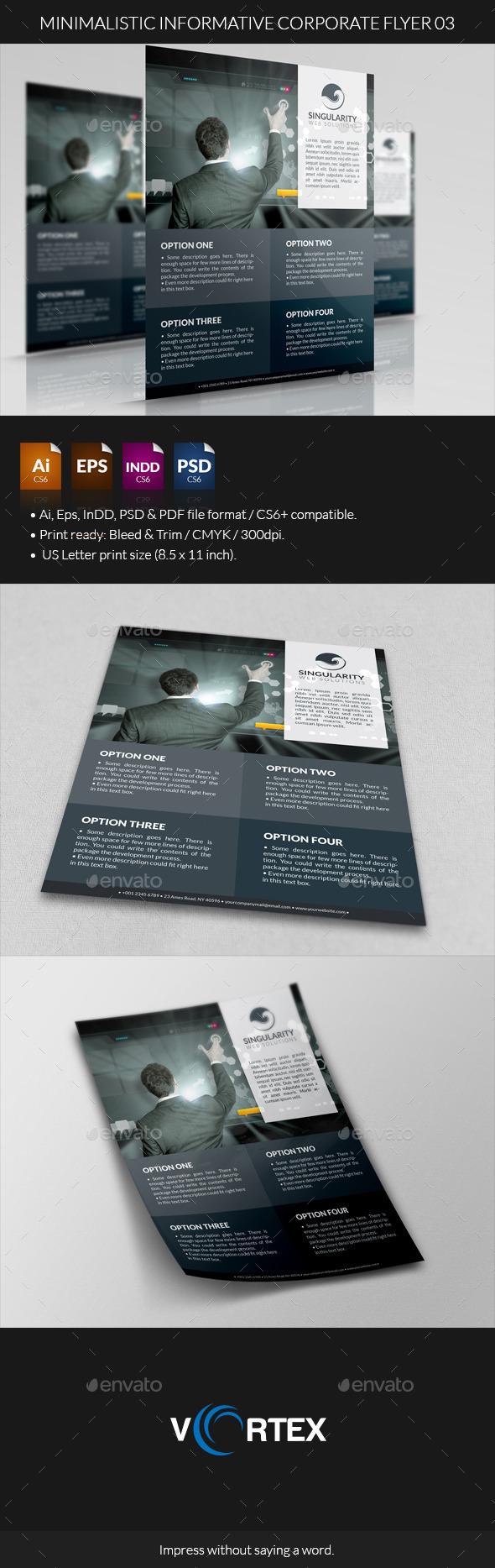 GraphicRiver Minimalistic Informative Corporate Flyer 03 8823971