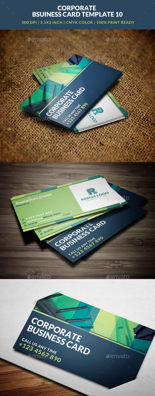 GraphicRiver Corporate Business Card Template 10 8824028
