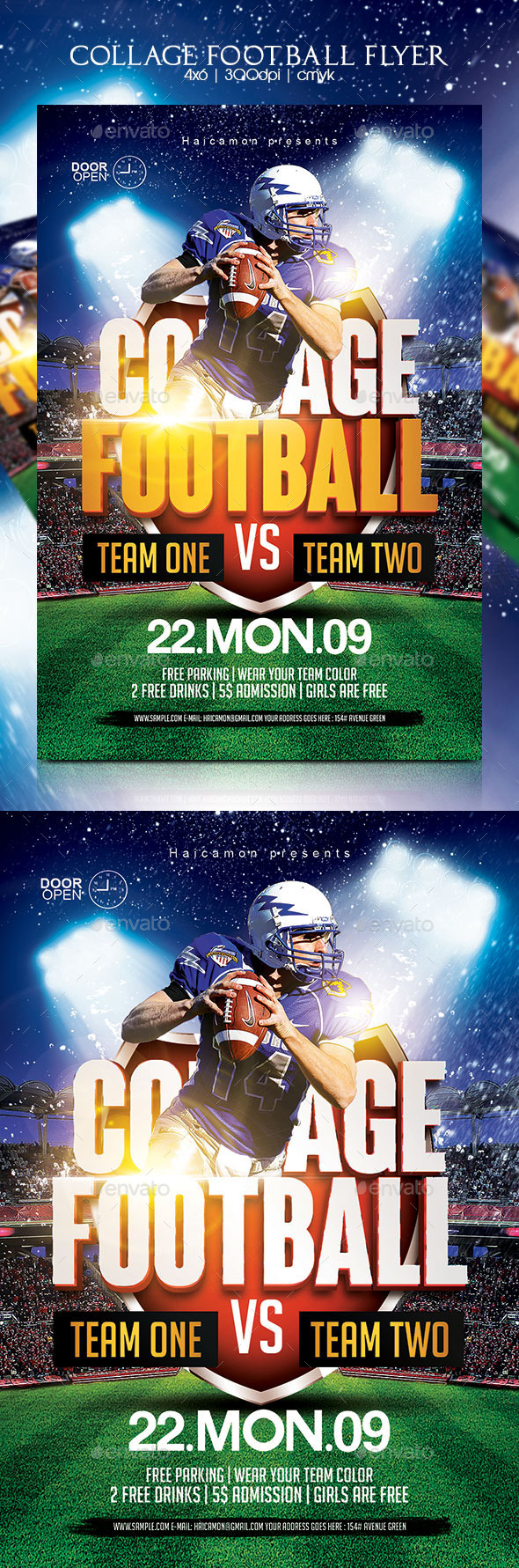 GraphicRiver Collage Football Flyer 8824073