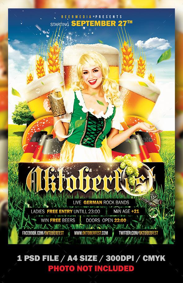 GraphicRiver Oktoberfest Flyer Poster 8824095