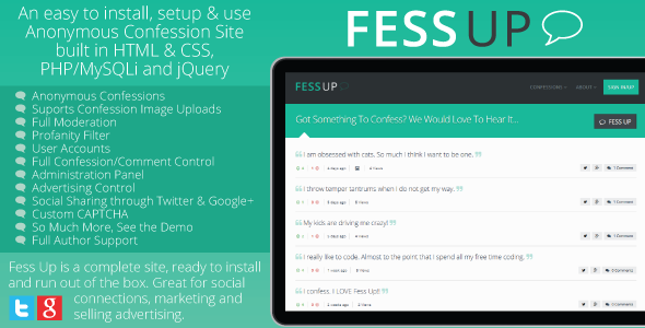 CodeCanyon Fess Up Anonymous Confessions 8824110
