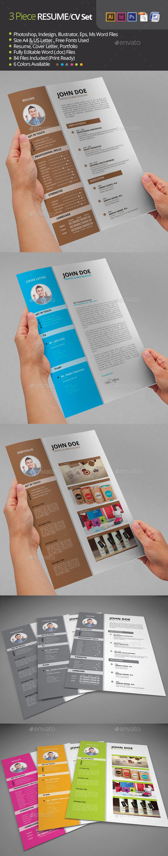 GraphicRiver Resume Resume Template 8824112