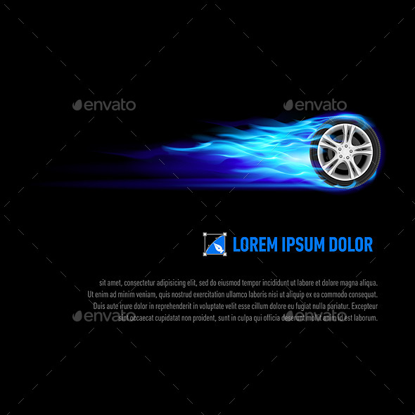 GraphicRiver Flaming Wheel 8824220