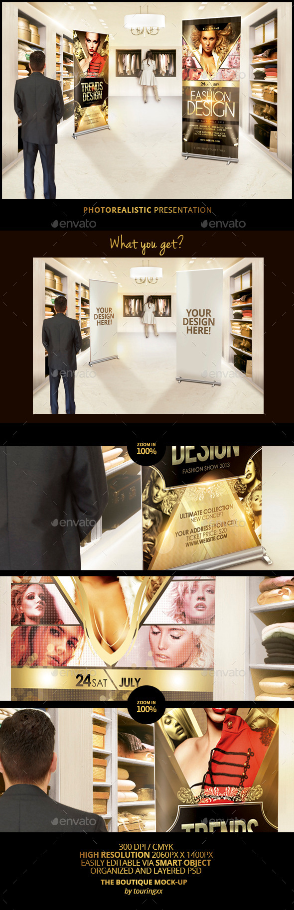 GraphicRiver The Boutique Mock-Up Template 8824397