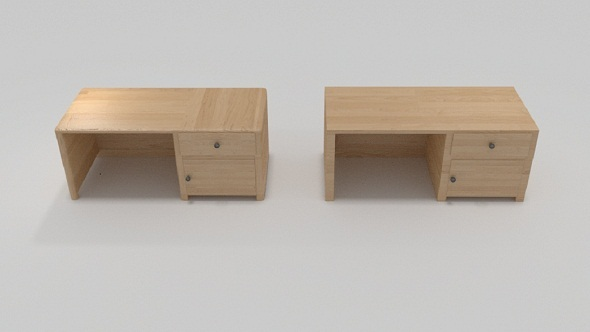 3DOcean Wooden Desk 8824403