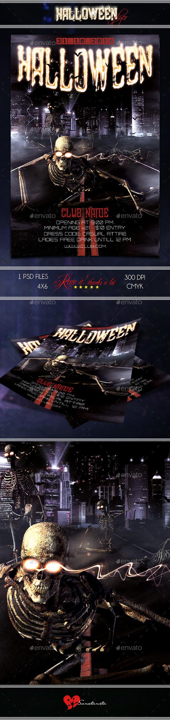 GraphicRiver Halloween Flyer 8824410