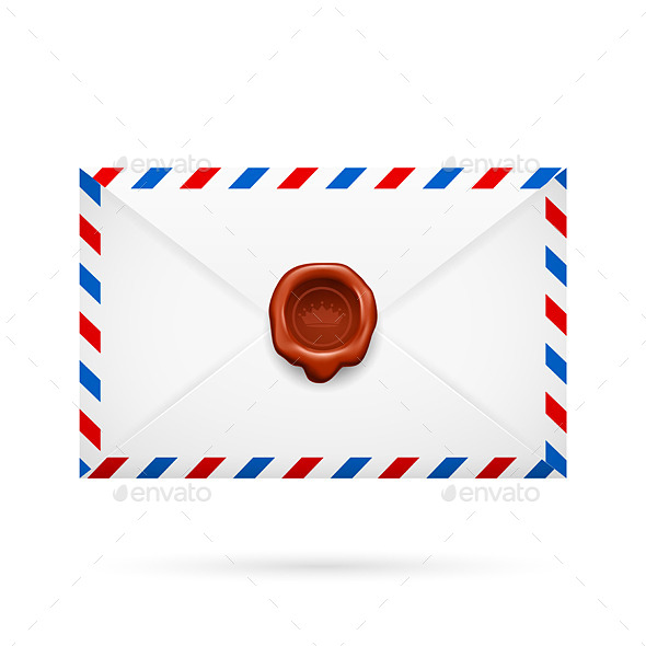 GraphicRiver Envelope with Stamp Vector Illustration 8824428