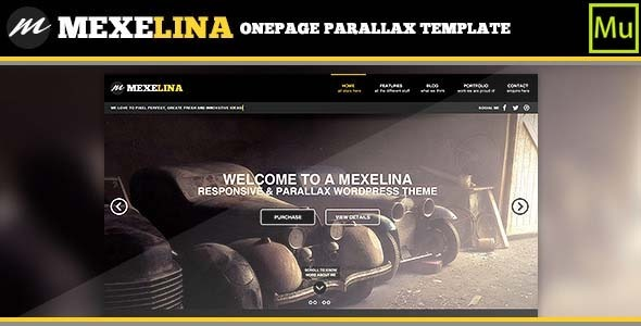 ThemeForest Mexelina Creative Muse Template 8799337