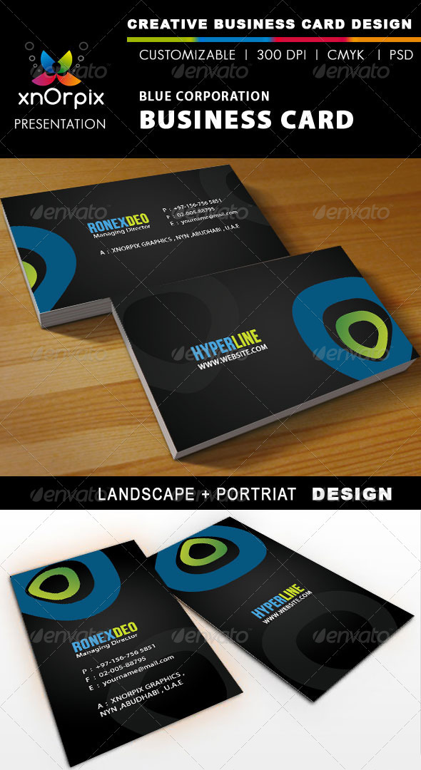 Graphic River Blue Corporation Business Card Print Templates -  Business Cards  Corporate 898490