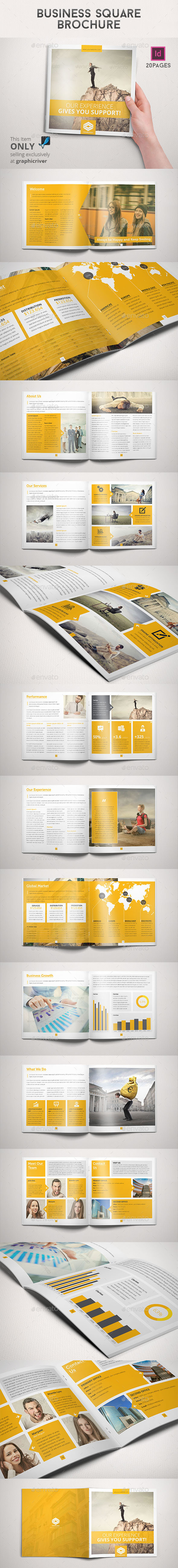 GraphicRiver Business Square Brochure 8824469