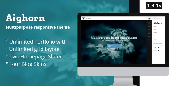 Aighorn WP - Multipurpose Responsive theme - Portfolio Creative