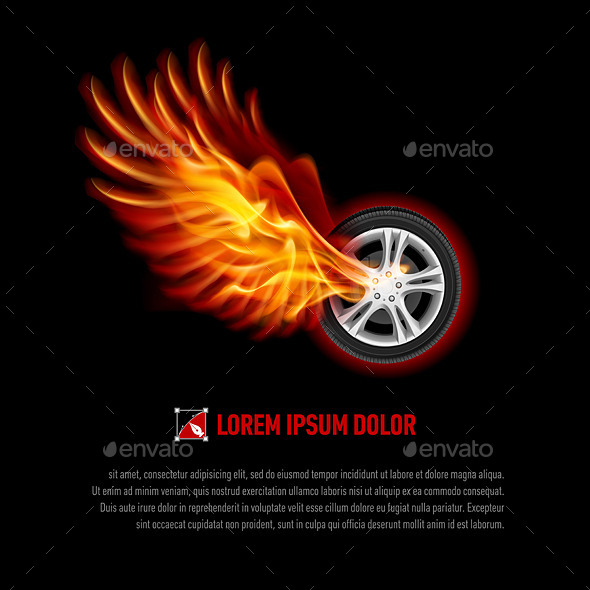 GraphicRiver Flying Wheel 8824595