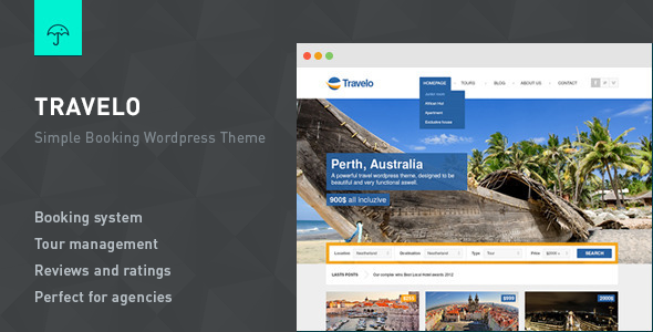 Travelo - Responsive Booking Wordpress Theme - Travel Retail