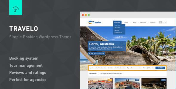 Travelo - Responsive Booking Wordpress Theme