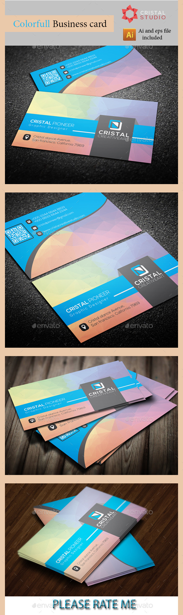 GraphicRiver Colorful Business Card 8824950