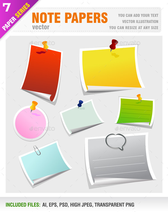 GraphicRiver Note Papers 8824998