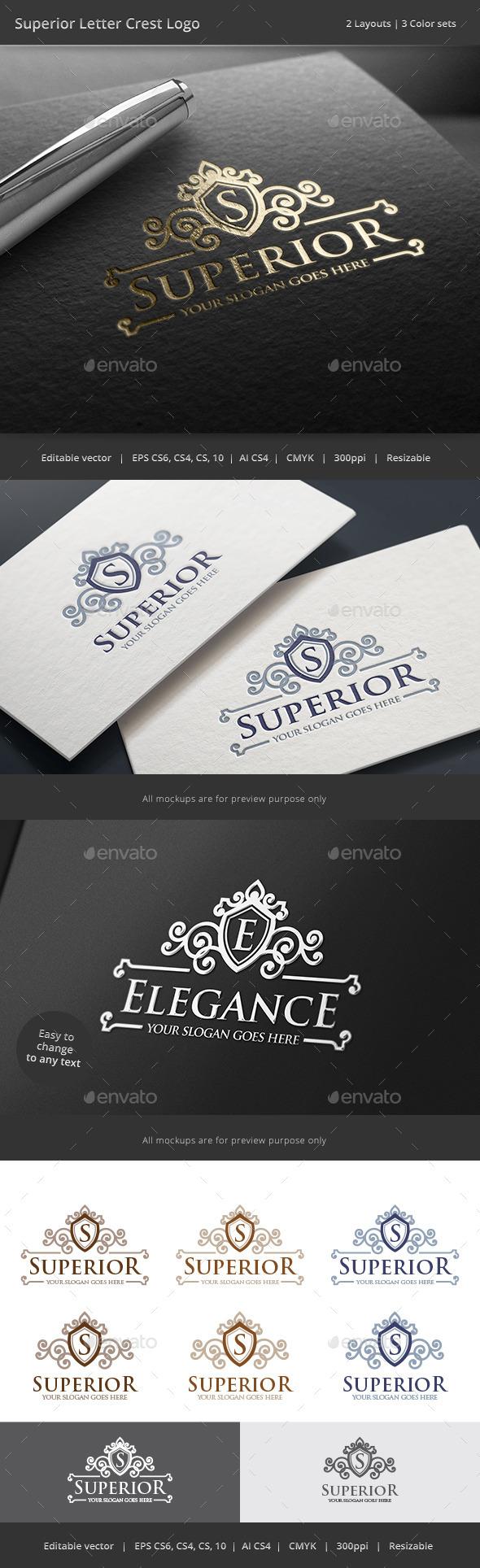 GraphicRiver Superior Letter Crest Logo 8825023