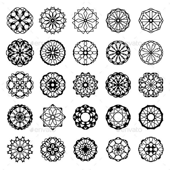 GraphicRiver Round Ornament Set 8825144