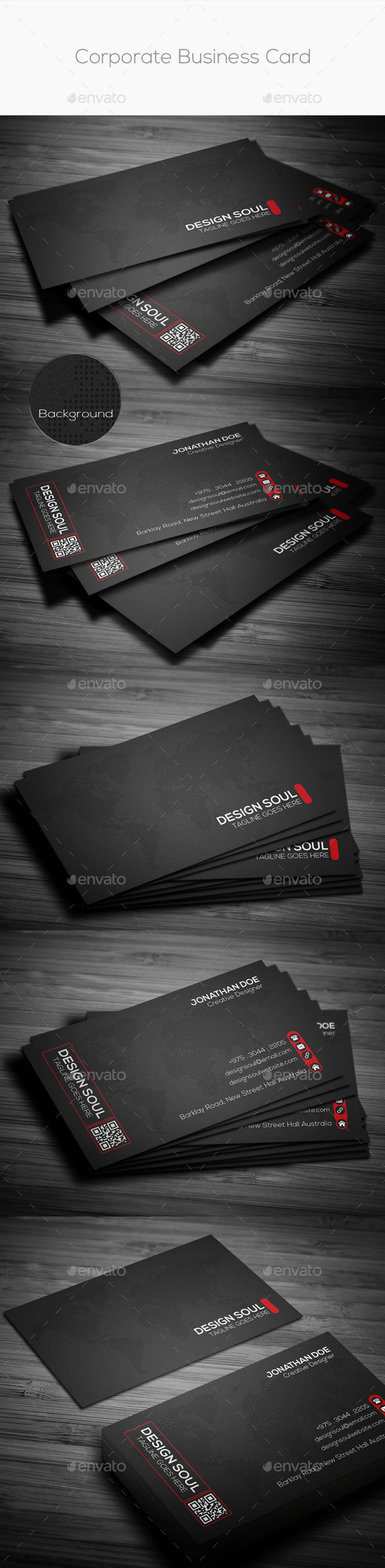 GraphicRiver Corporate Business Card 8825437