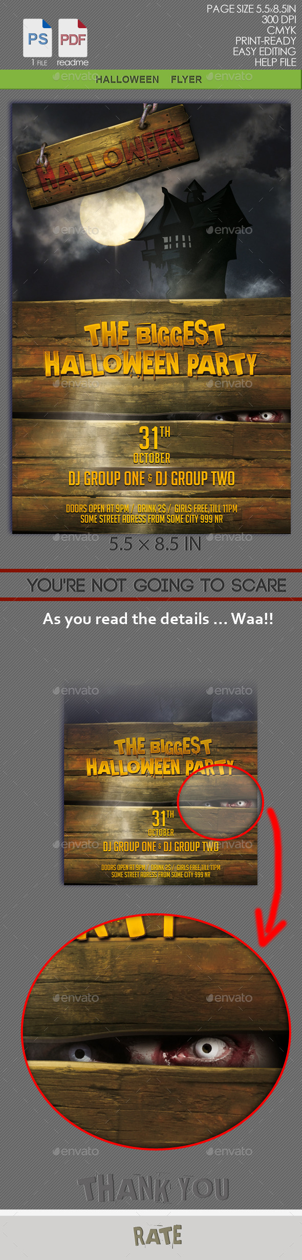 GraphicRiver Halloween Flyer 8809509