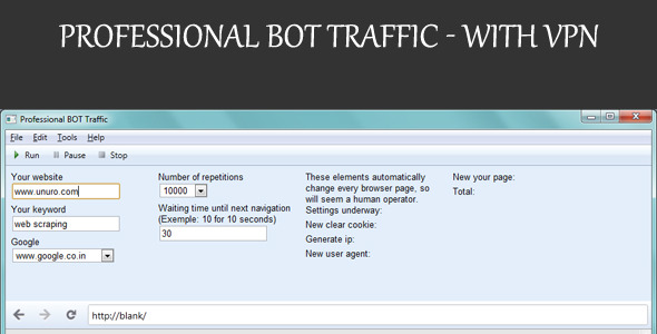 CodeCanyon Professional BOT Traffic With VPN 8825481