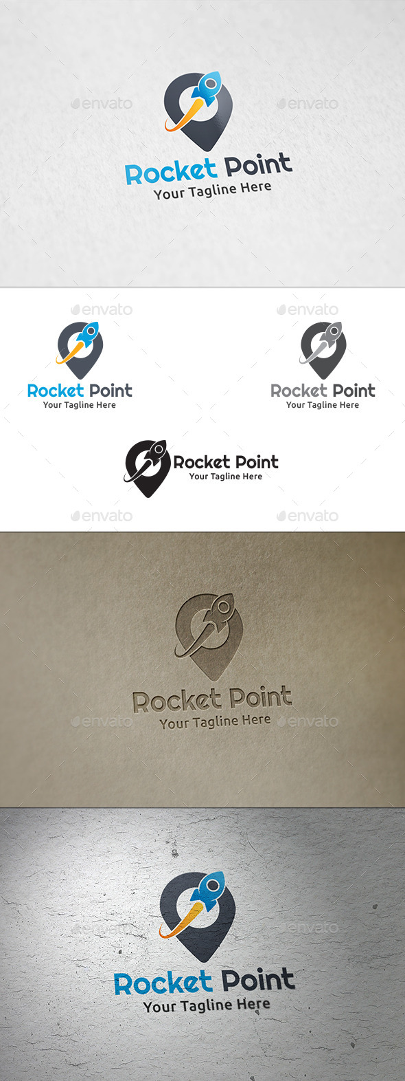 GraphicRiver Rocket Point Logo Template 8825491