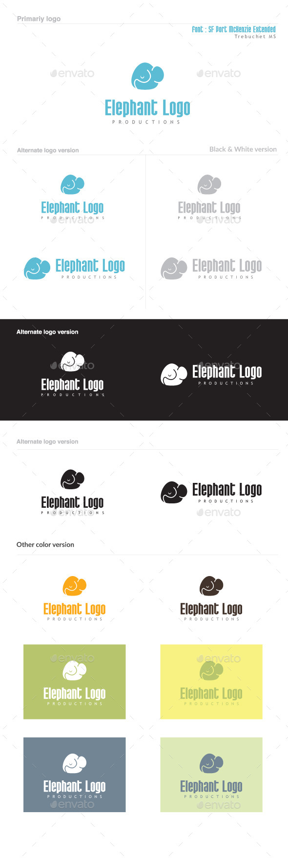 GraphicRiver Elephant Logo 8825588