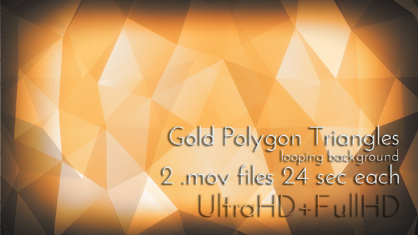 Gold Polygon Triangles