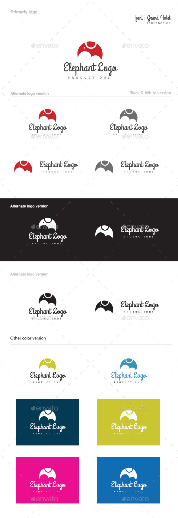 GraphicRiver Elephant Logo 8825694