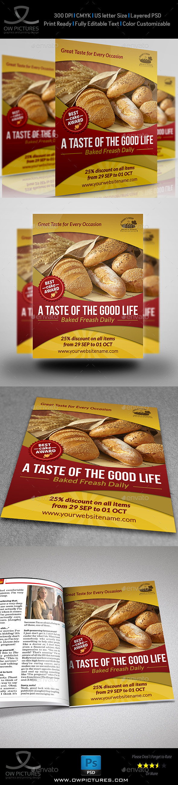 GraphicRiver Bakery Flyer Template Vol.2 8825711