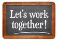teamwork concept on blackboard - PhotoDune Item for Sale